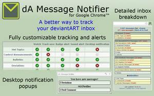 dA Message Notifier for Chrome