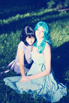 Michiru and Hotaru. Sun's rays