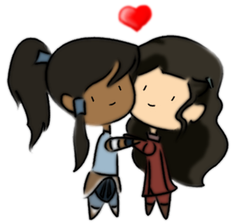 Chibi Korrasami by killingchivalry