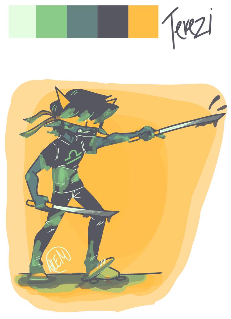 Random color palette + random character #2 by Annolis