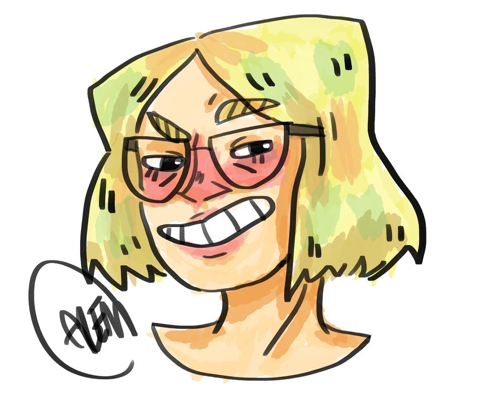 Smug woman by Annolis