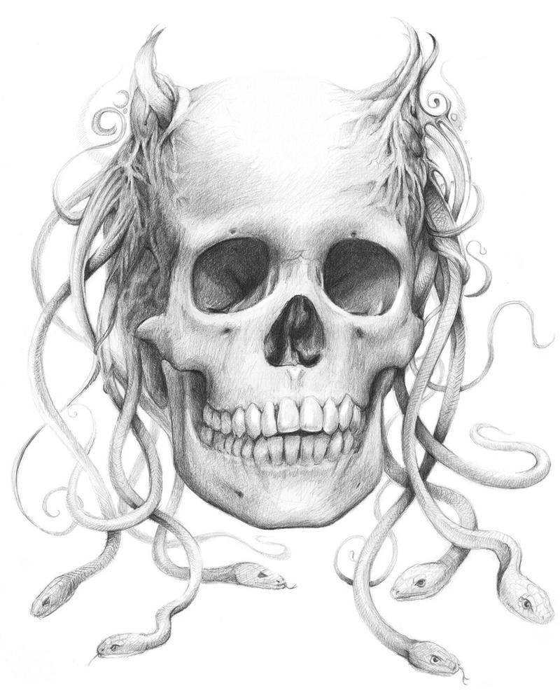Medusa-Skull by Olechka01