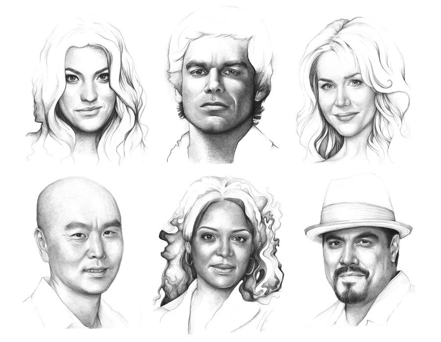 DEXTER Portraits by Olechka01