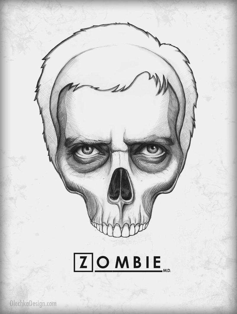 House MD Zombie Skull by Olechka01