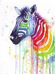 Rainbow Zebra - Ode to Fruit Stipes by Olechka01
