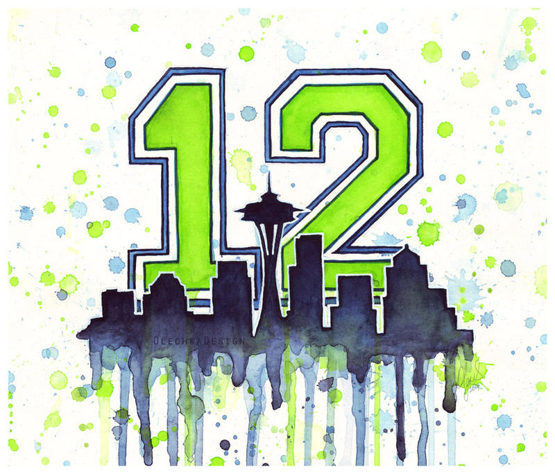 Seattle Seahawks 12th Man Art by Olechka01 on DeviantArt