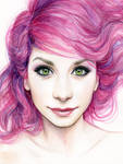 Girl with Magenta Hair