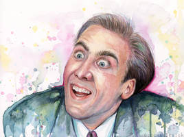 Nic Cage Watercolor You Don't Say Meme by Olechka01