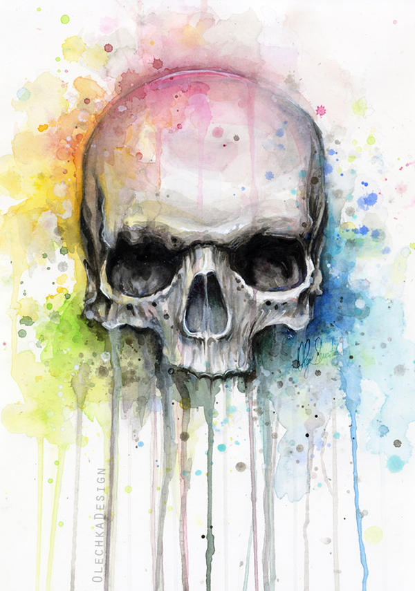 Skull Watercolor Painting 33
