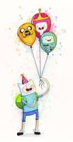 Adventure Time Finn with Birthday Balloons