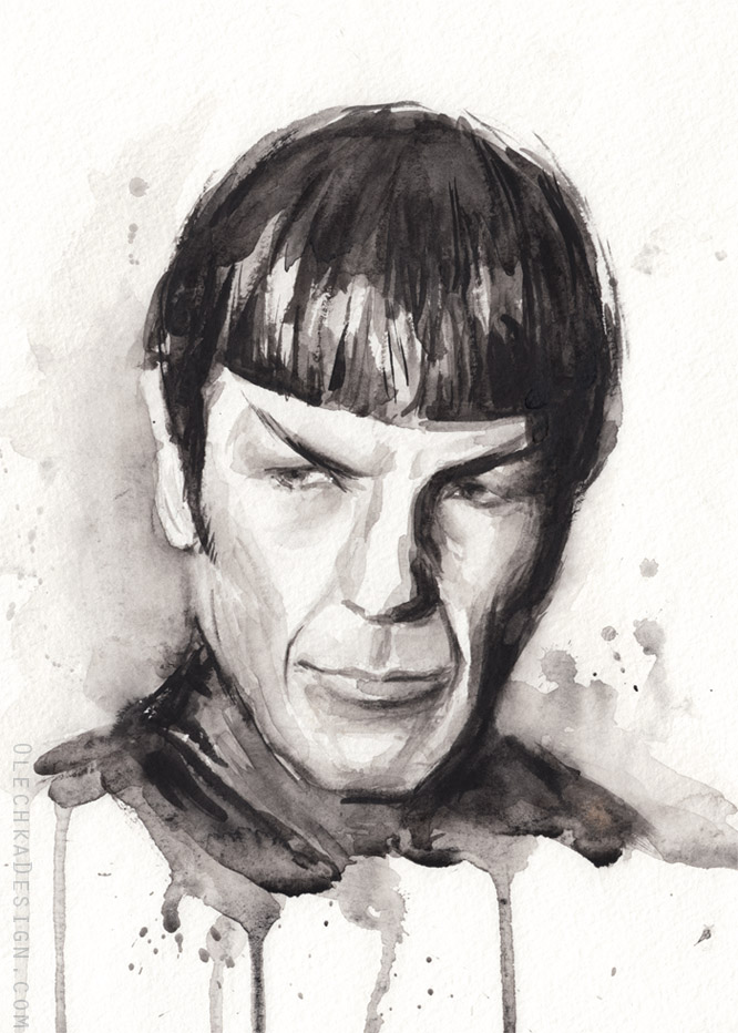 Spock Portrait Star Trek Art by Olechka01