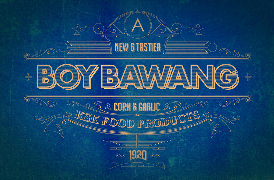 1920s Boy Bawang Philippine Product By Jimiblake