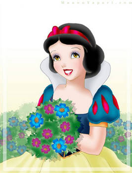 Snow White Gathering Flowers