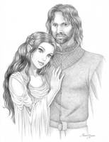 Arwen and Aragorn by manony