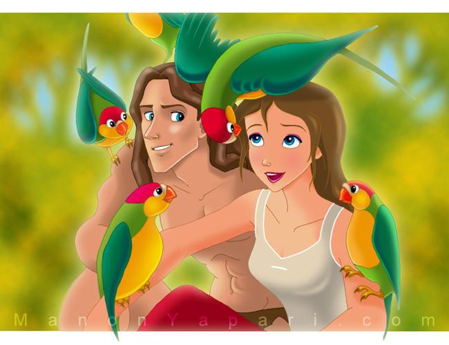 Tarzan and Jane Wallpaper