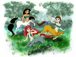 Disney Princesses as Centaurs