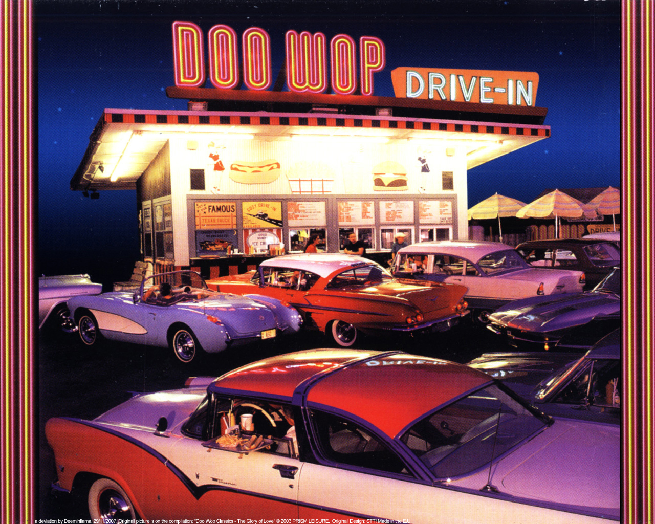 doo wop drive in by deeminllama on deviantart. Black Bedroom Furniture Sets. Home Design Ideas