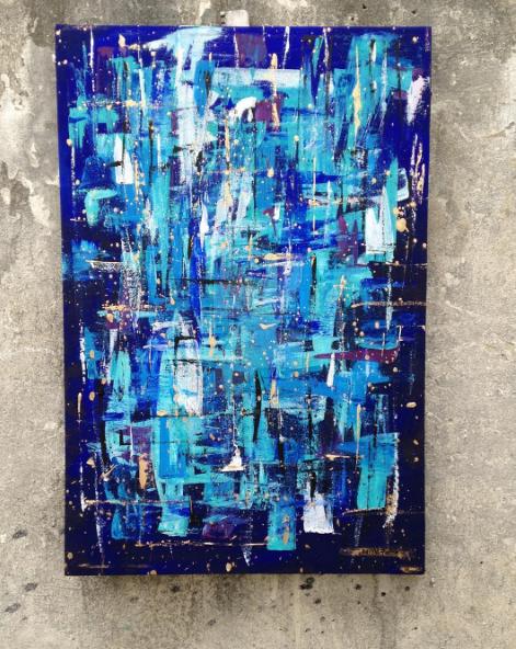 In the Blues by JoannaFallerArt