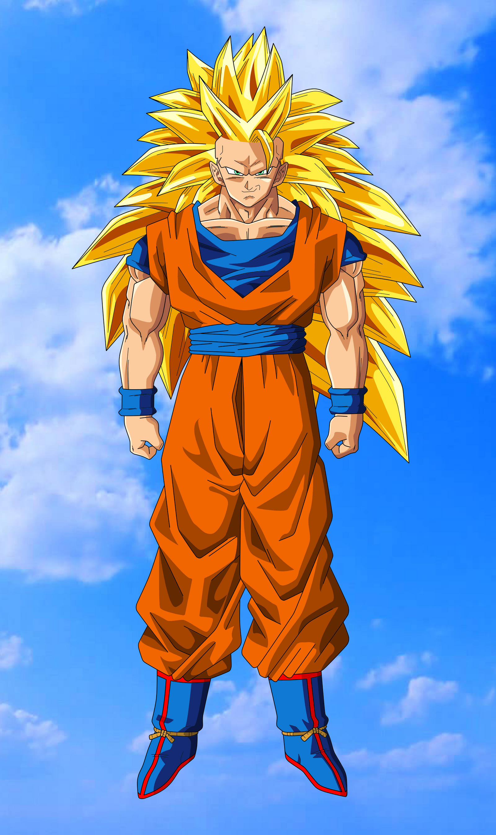 Son goku super saiyan 3 by benj san on deviantart - Sangohan super saiyan 3 ...