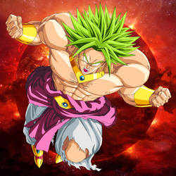 Broly Legendary Super Saiyan (OVA 10) by BenJ-san
