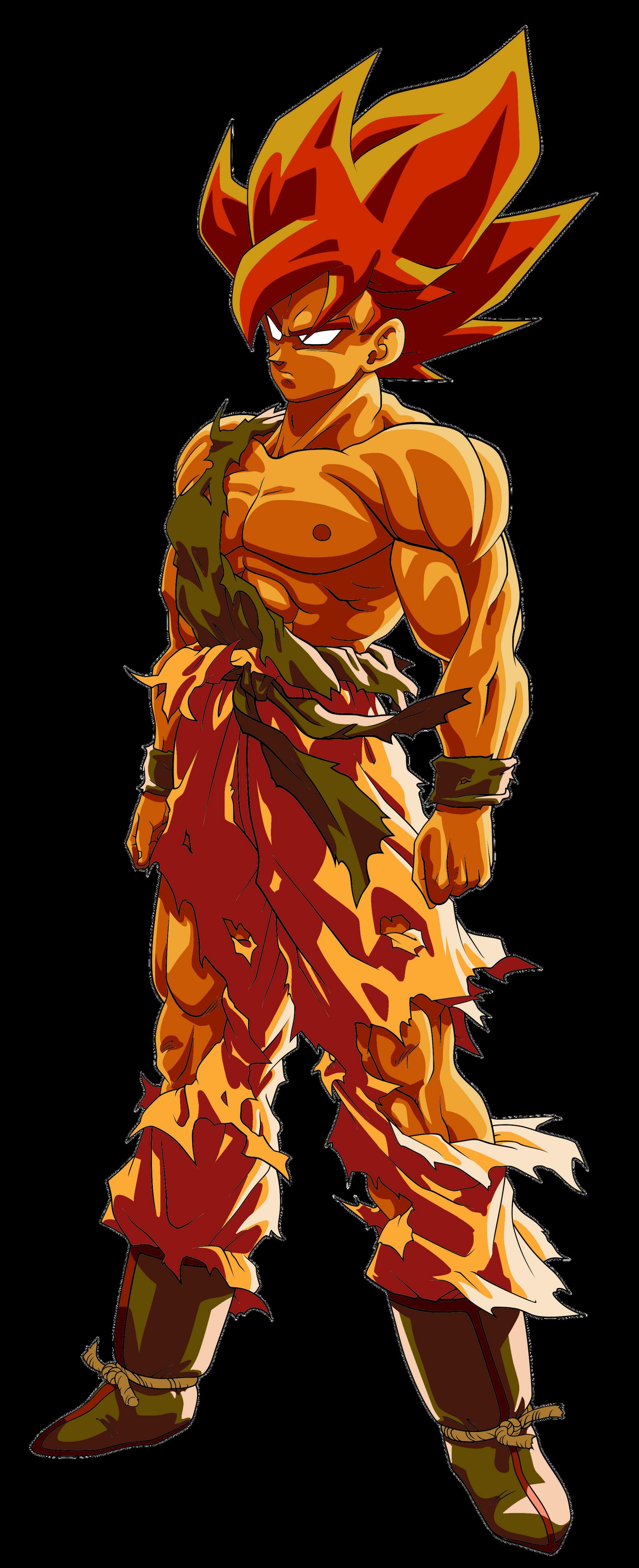 Goku ssj namek false super saiyan palette by benj san on deviantart - Super san dragon ball z ...