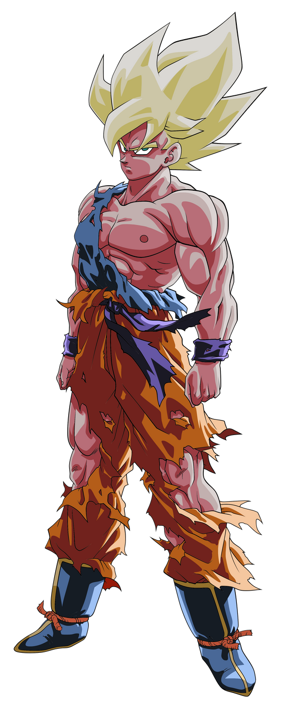 If you 39 re a man and you wear jeans with rips in them - San goku super saiyan 5 ...