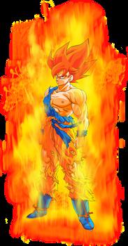 Goku SSJ (Namek) - SSG (Toriyama) Aura Palette