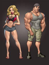 Fitness characters by Dominic-Marco