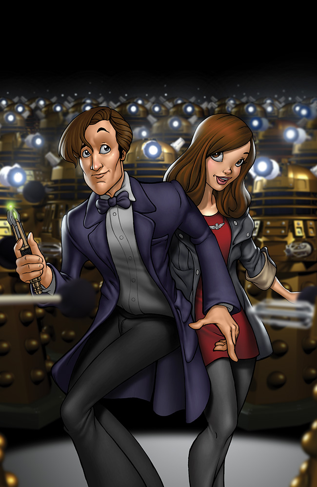 The Doctor and Clara by Dominic-Marco