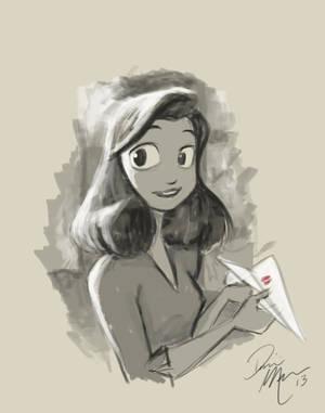 Paperman warm-up sketch