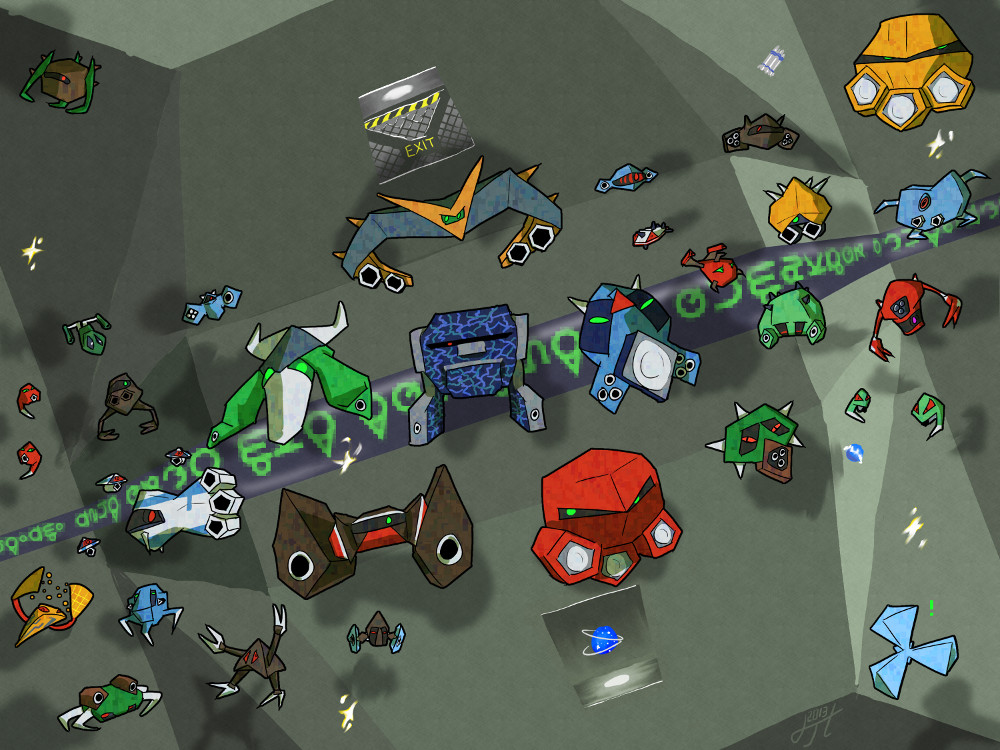Descent II bots by Hexaditidom