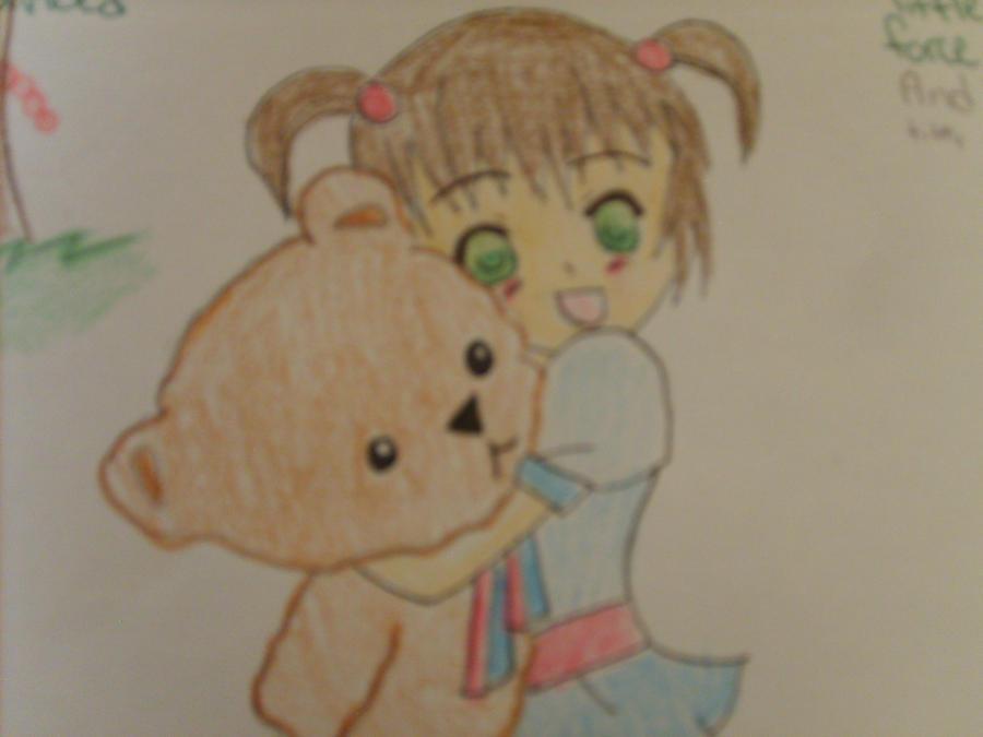 Little Girl Hugging Teddy Bear! by NarutoFreak4998 on ...