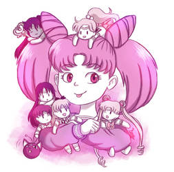 Chibiusa and The Sailor Puppet Pals(24th Oct 2018) by bunnybones1