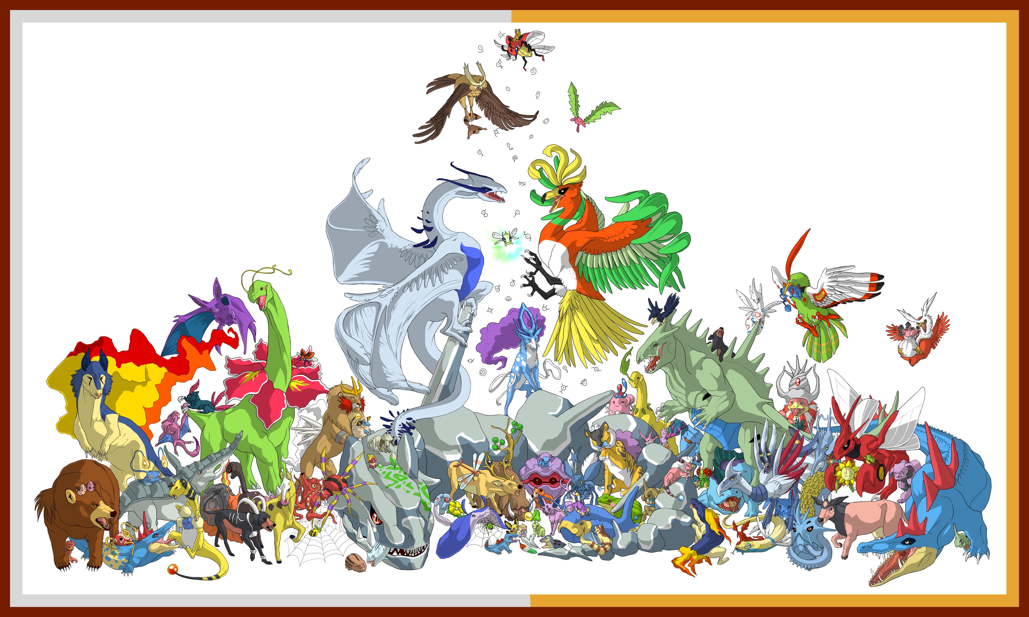 Every Second Generation Pokemon! by Speras on deviantART