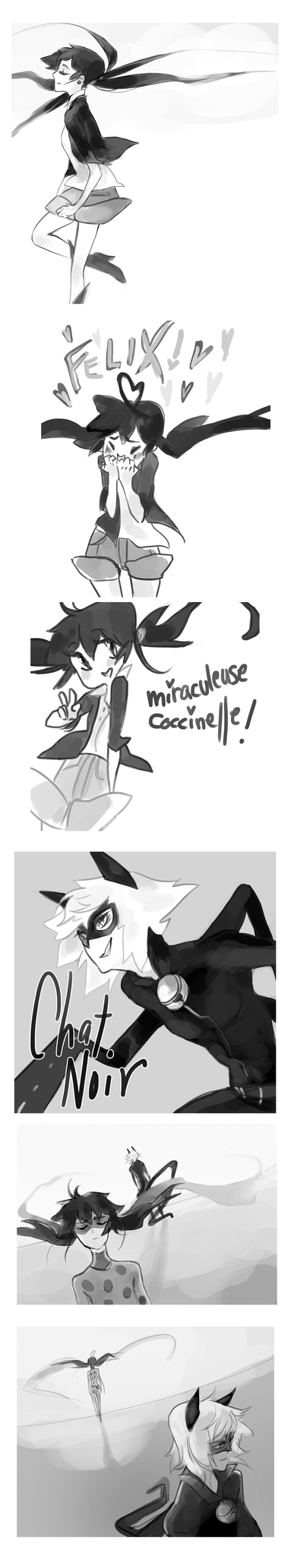 miraculous ladybug sketchdump by GardenofSpice