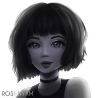 Black and white girl by RosiNyam