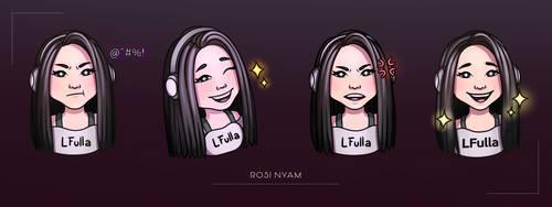 COMMISSION LFulla Twitch emotes by RosiNyam
