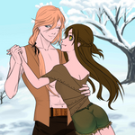 Jargan and Morwen Free-Winter dancing. by TwistedWizzro343