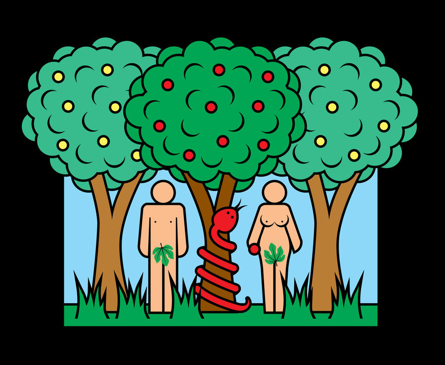 Adam and Eve - Fall of Man by inspired-imaging