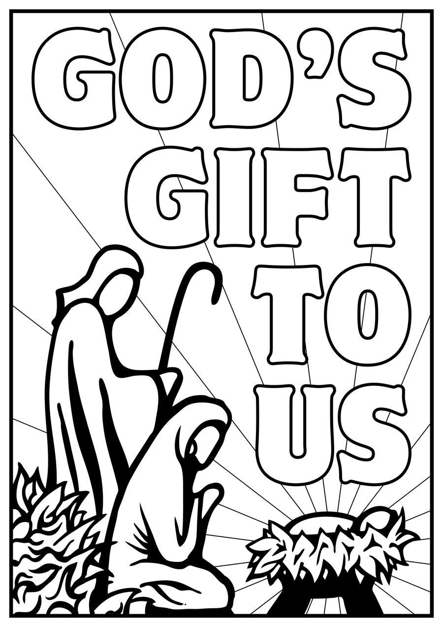 Colouring sheets nativity scene - Nativity 4 By Inspired Imaging Nativity 4 By Inspired Imaging
