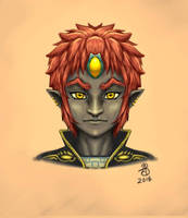 Young Ganondorf by miserybearr