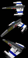 E-Wing Details (four POV's) by ChrisNs