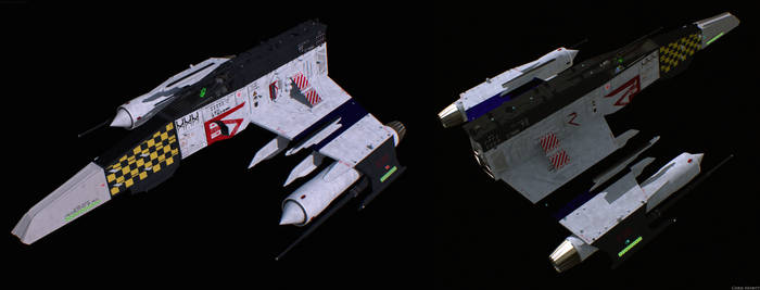 E-Wing Mark V 'Aurora,' Remastered (w/o weapons) by ChrisNs