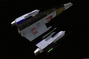 E Wing Mark V 'Aurora,' Unarmed, Back View by ChrisNs