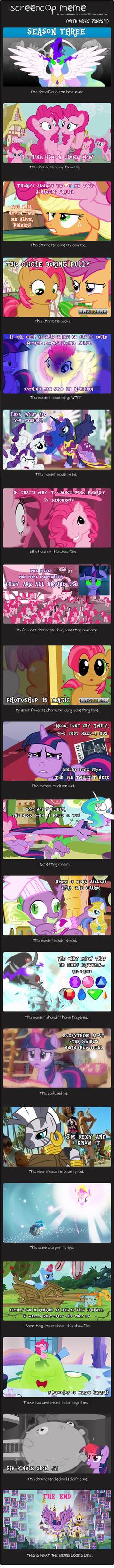MLP SEASON 3: Screencap Meme by Eriarte