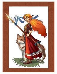 Comission : Celtic Warrior by yoyokat55
