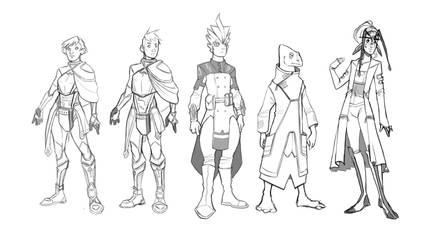 Invisible War - Rough Character Lineup by yoyokat55