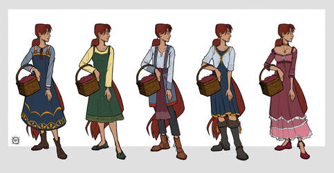 Lysil - Outfit Iterations by yoyokat55