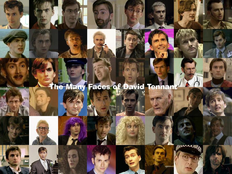 Many Faces of David Tennant by pfeifhuhn