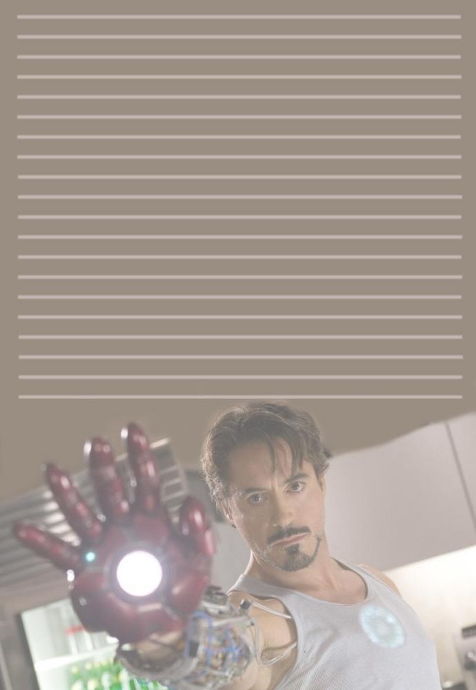 Tony Stark Stationery by pfeifhuhn